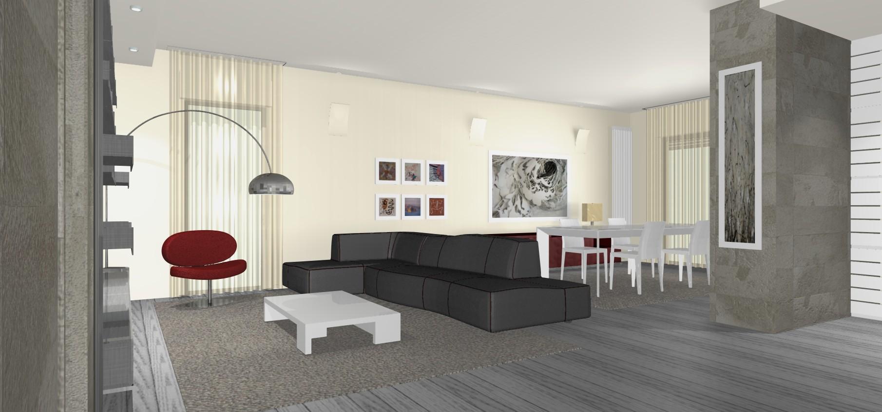 Pitture Moderne Per Interni: Idee appartamento moderno ...